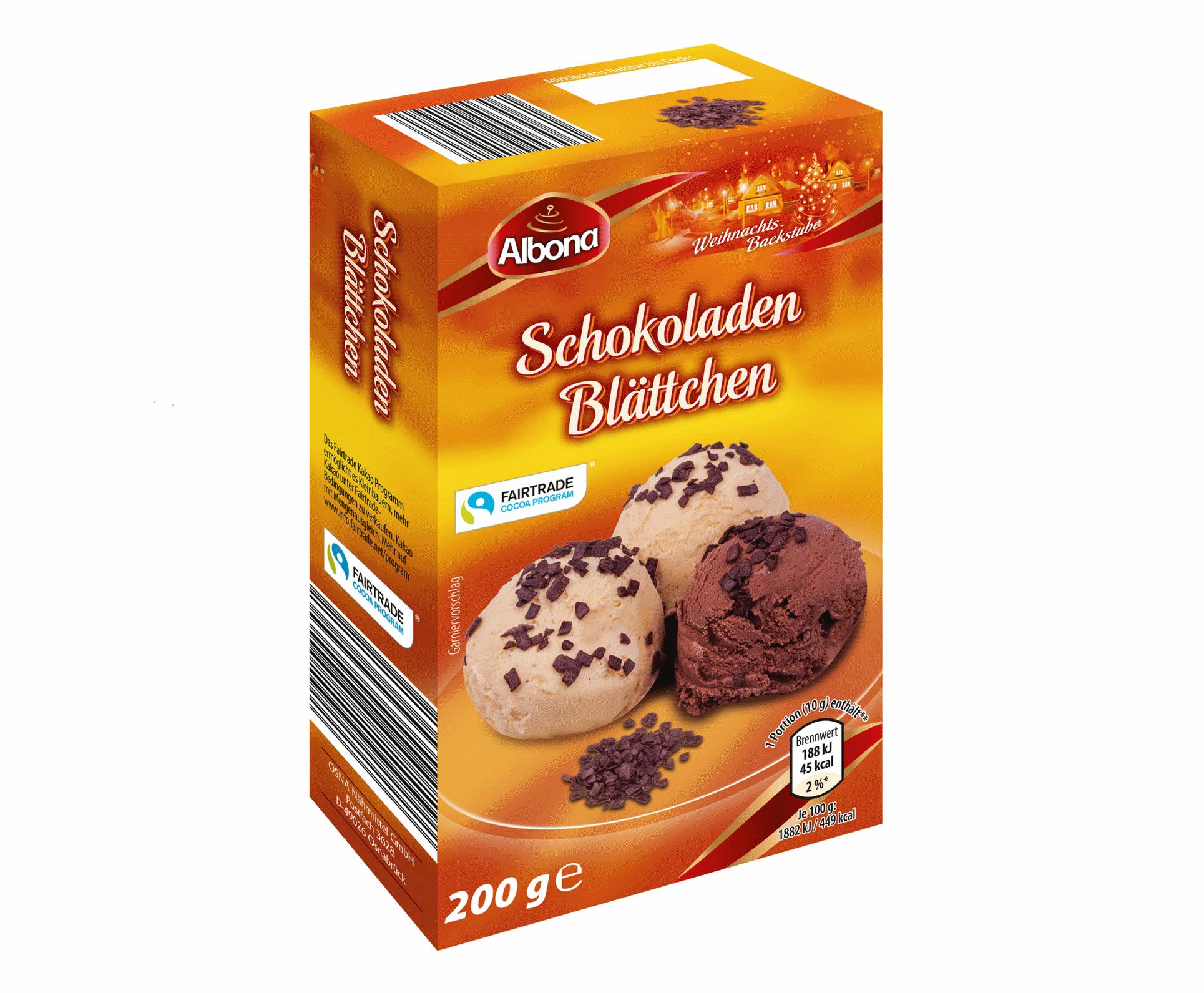 Backshop Spezialitäten Schokoladenblättchen