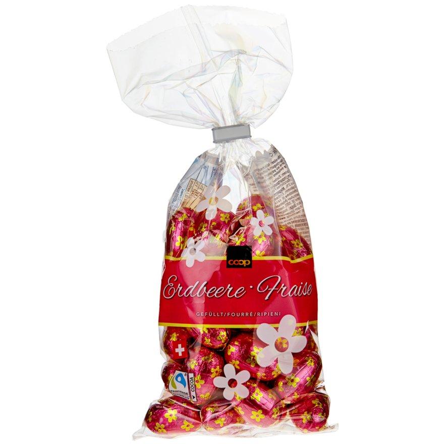 Schokoladen-Eili Erdbeere, gefüllt