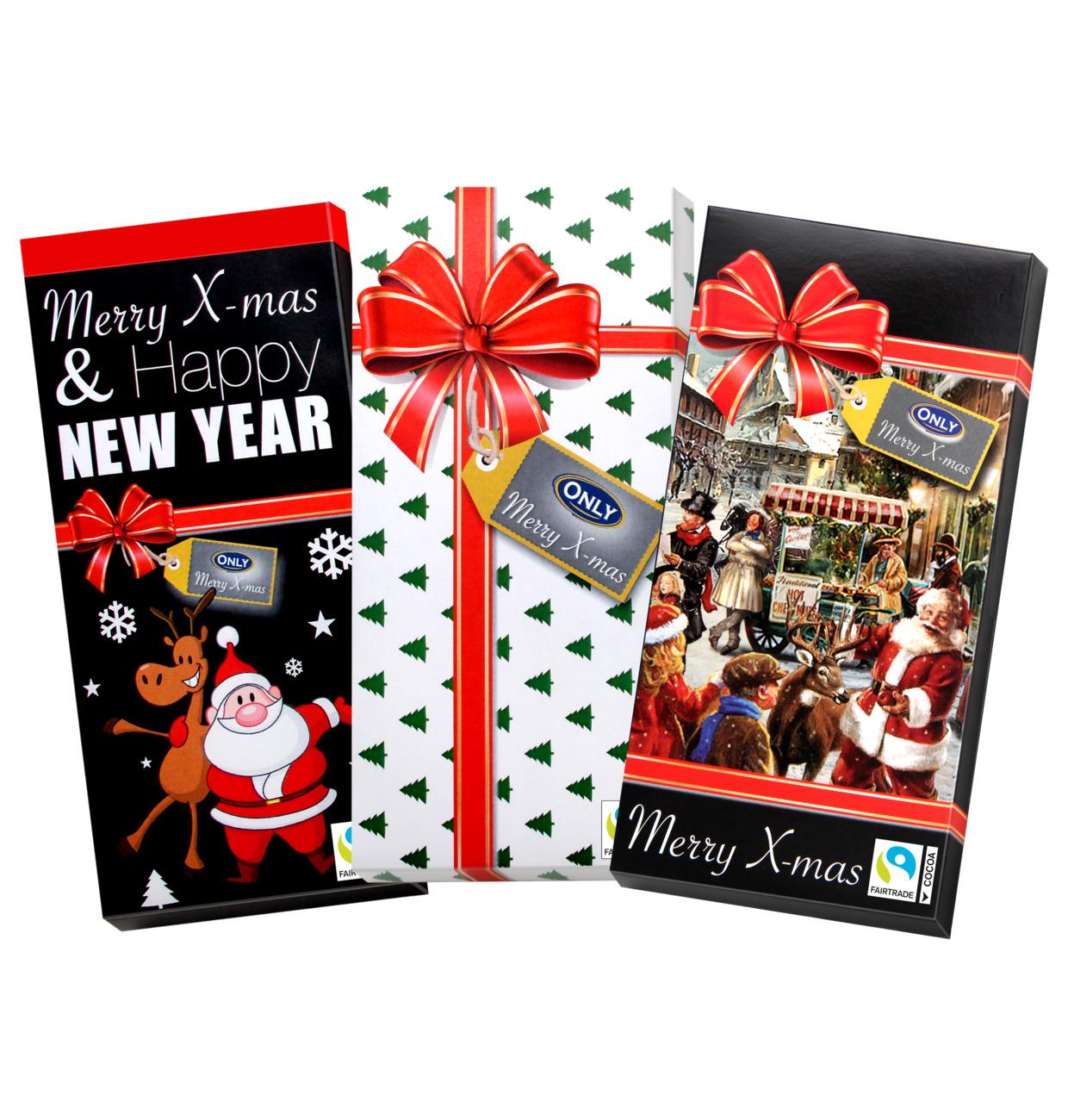 DISPLAY Milchschokolade Weihnachten 3 Motive Thekendisplay