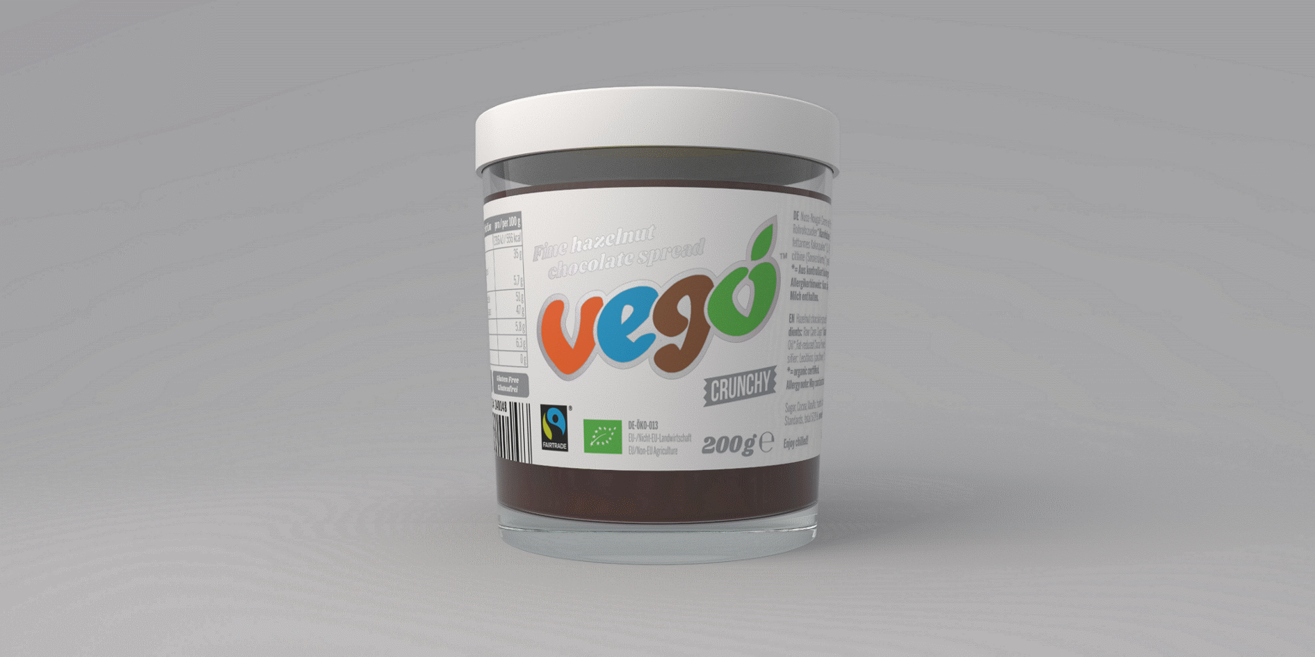 Vego Hazelnut Chocolate Spread (Crunchy)