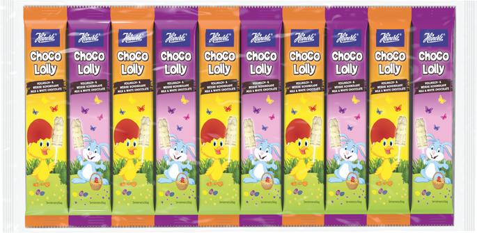 HEINERLE Choco Lolly Ostern Vollmilch- + weiße Schokolade