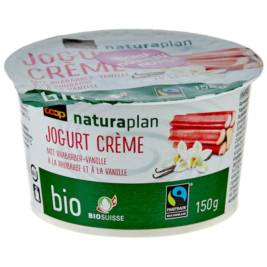 Jogurt Crème mit Rhabarber-Vanille