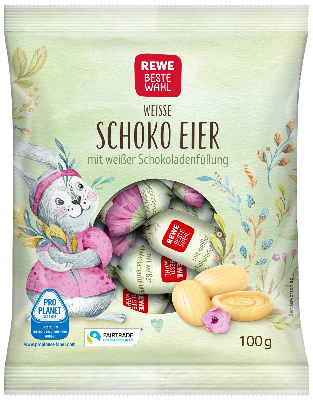 RBW fein gefüllte Eier 100g Weiße Schokolade