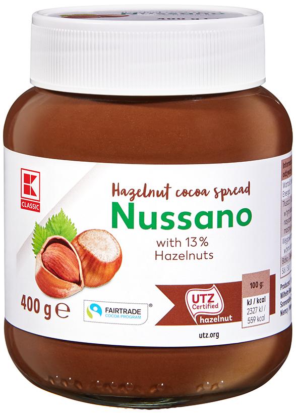 K-Classic Nussano Nuss Nougat Creme 400g
