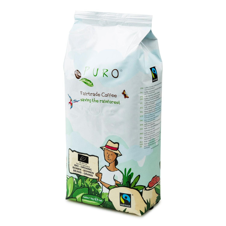 Puro – Café équitable bio grains – 1 kg
