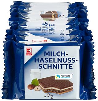 KLC Milch-Haselnuss Schnitte 250g