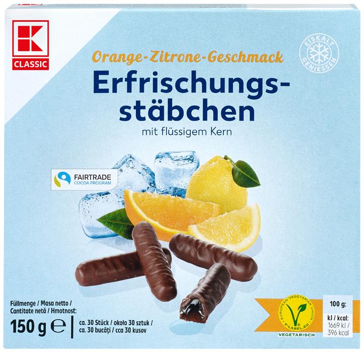 KLC Erfrischungsstäbchen Orange-Zitrone 150g