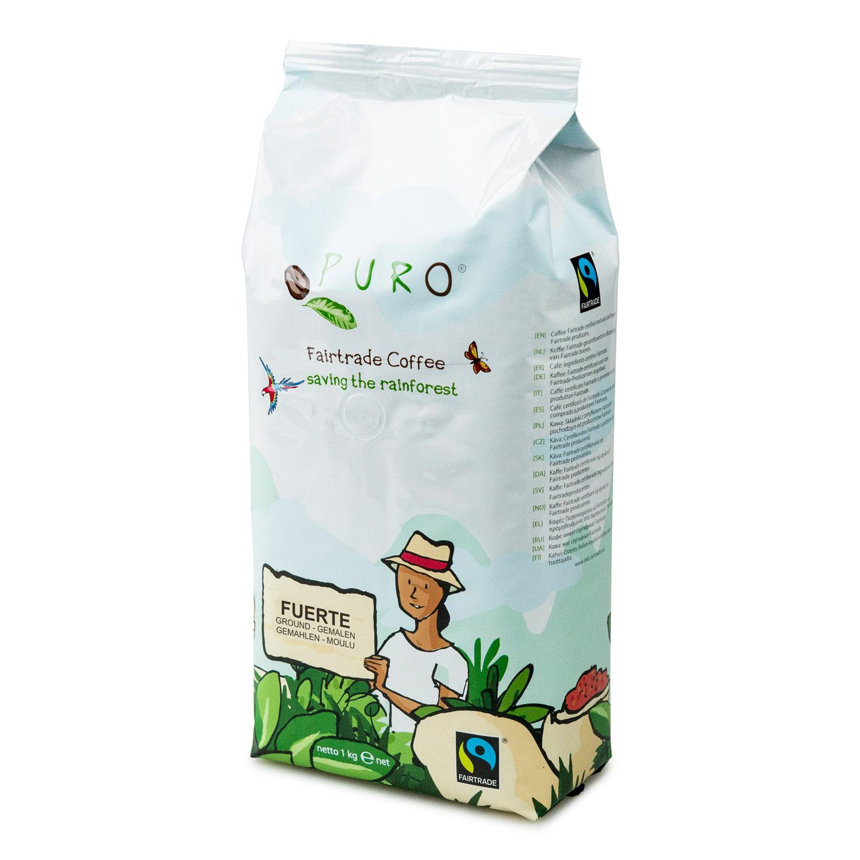 Puro - Fairtrade koffie fuerte gemalen - 1 kg