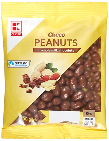 KLC Erdnüsse in Vollmilchschokolade 100g