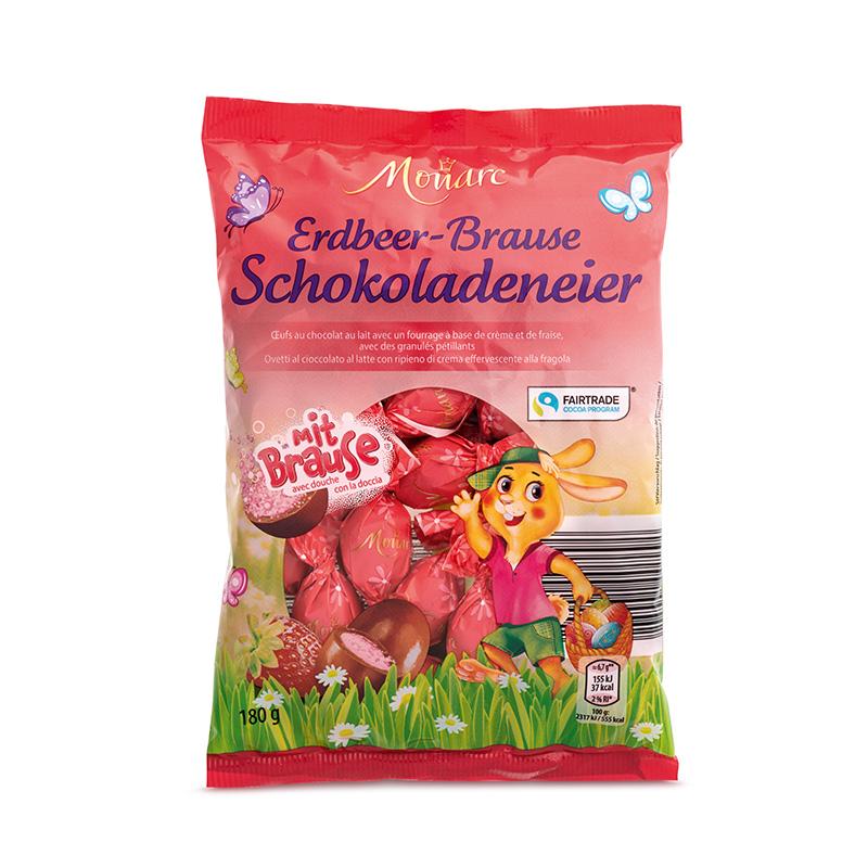 Vollmilch-Schoko-Eier Erdbeerbrause