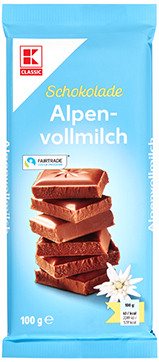 KLC Tafelschokolade Alpenvollmilch 100g