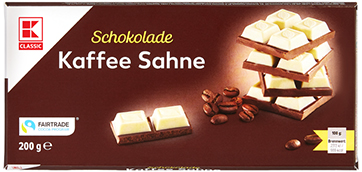 KLC Tafelschokolade Kaffeesahne 200g