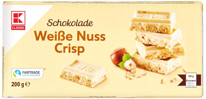 KLC Tafelschokolade Weiße Nuss Crisp 200g
