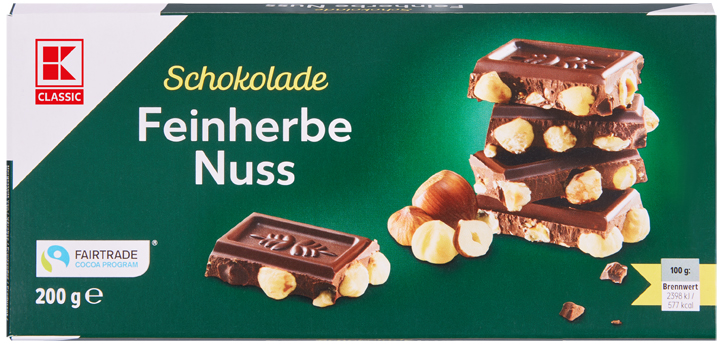 KLC Tafelschokolade Feinherbe Nuss 200g