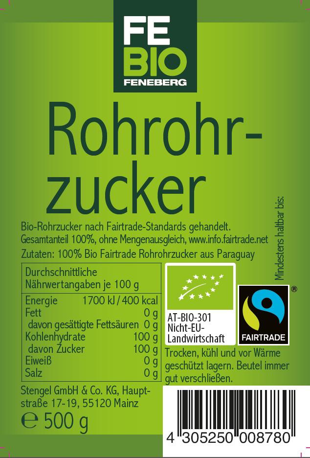 Febio Rohrohrzucker 500 g