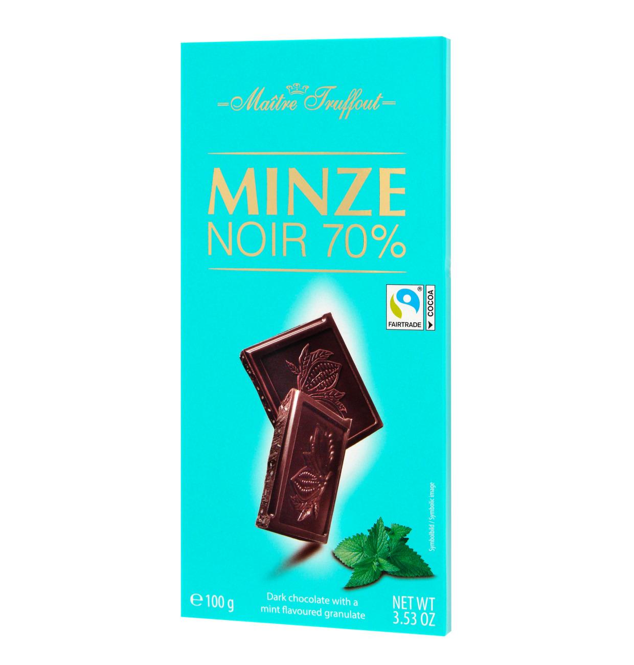 Dunkle Schokolade mit Minze
