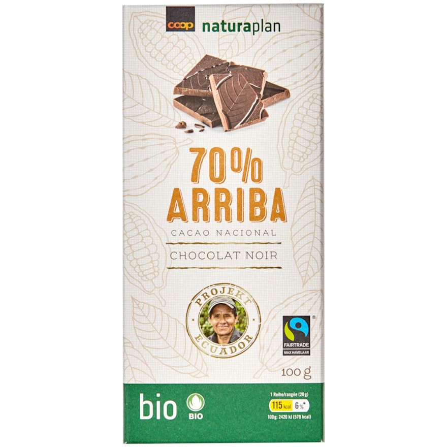 Tafelschokolade 70 Prozent Arriba (2x100g)