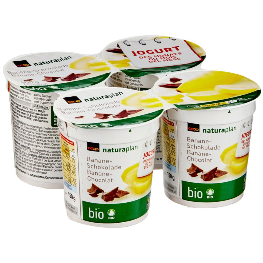 Jogurt Banane-Schokolade (4x150g)