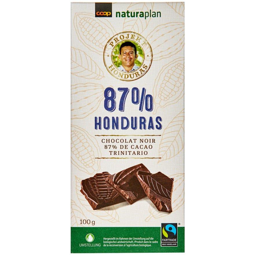 Tafelschokolade Honduras 87 Prozent