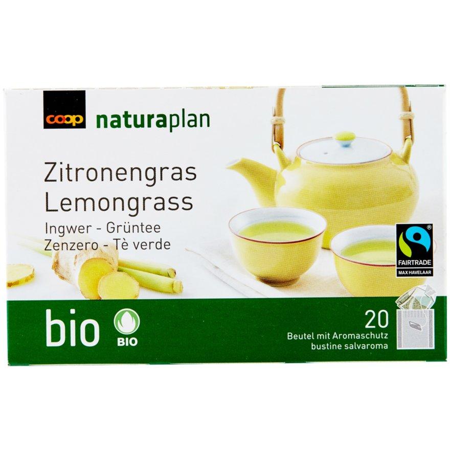Grüntee, Zitronengras & Ingwer (20 Beutel)