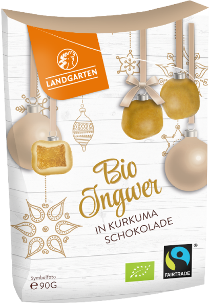 Bio FT Ingwer in Weißer Schokolade mit Curcuma 90g