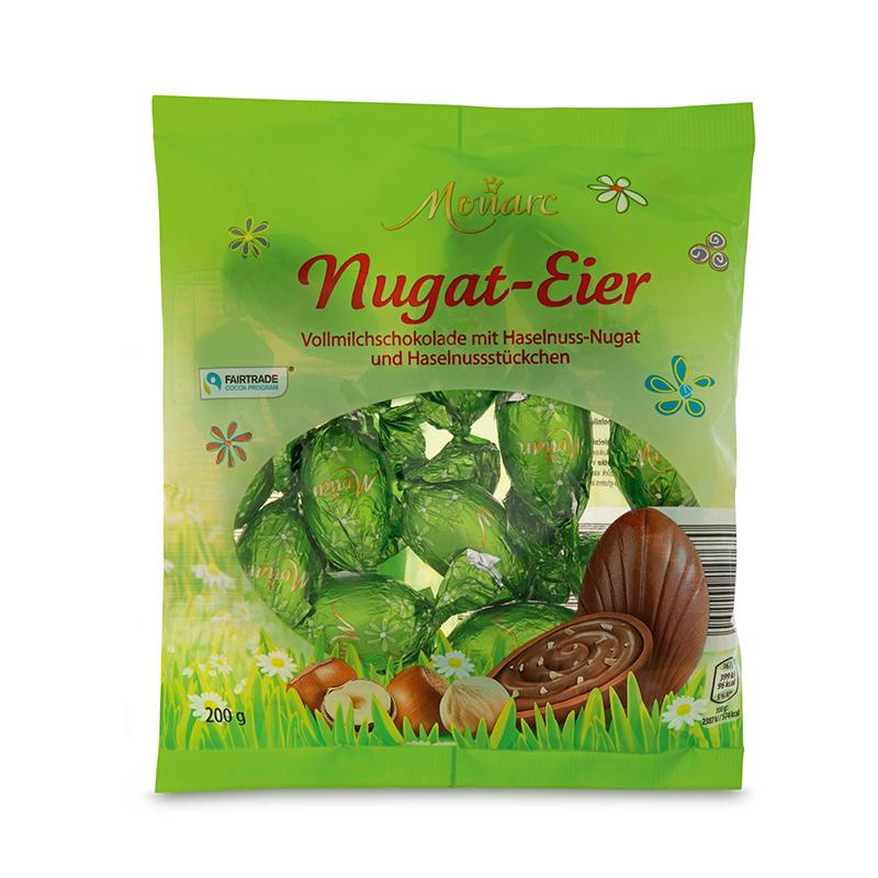 Nuss-Nugat-Eier Nugat mit Haselnuss