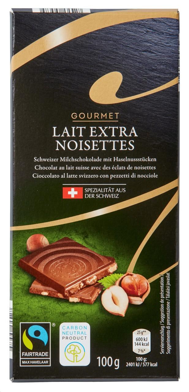 Schweizer Schokolade Lait Extra Noisettes
