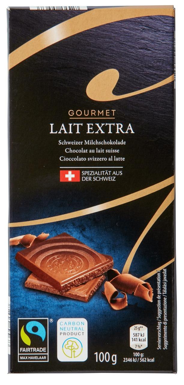 Schweizer Schokolade Lait Extra