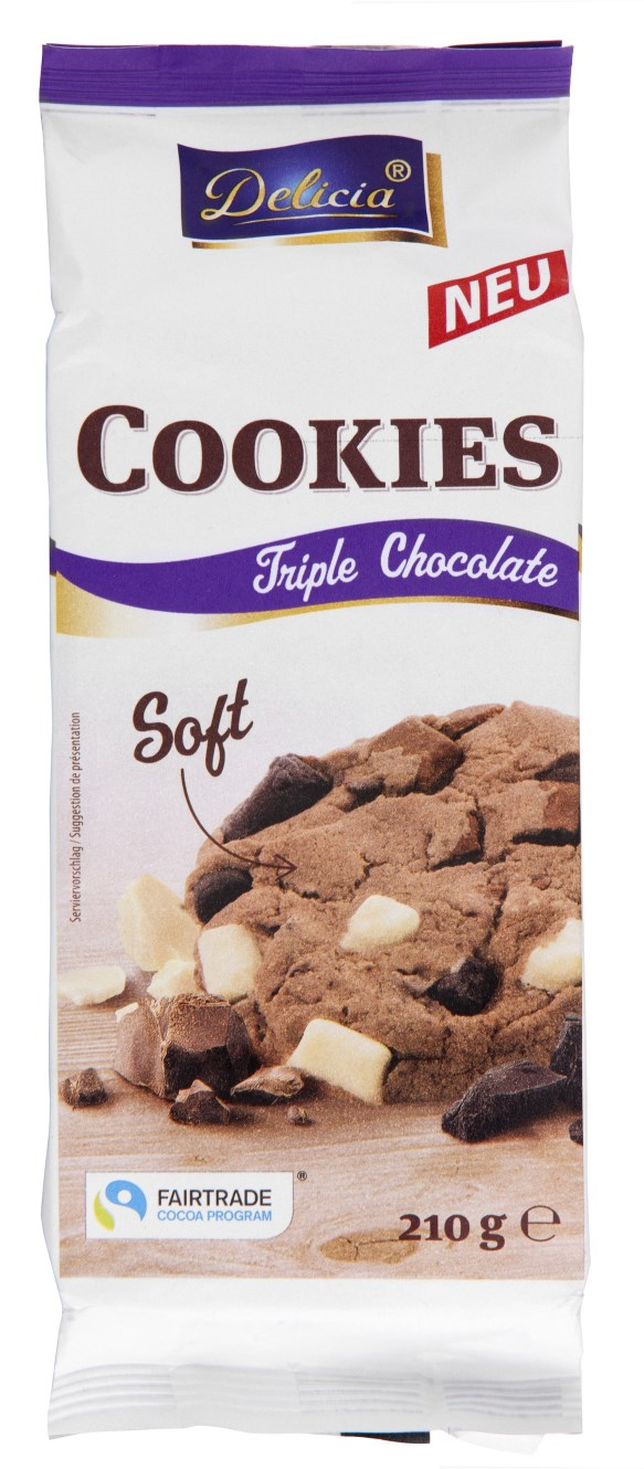 Delicia Cookies Triple Chocolate