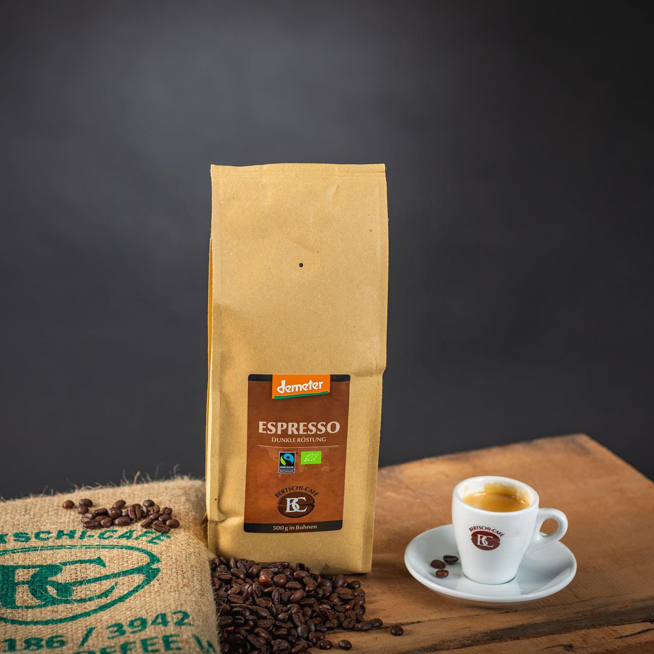 Demeter Espresso, in Bohnen