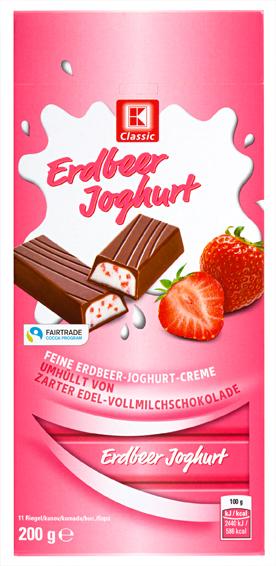 Vollmilch Stäbchen Erdbeer