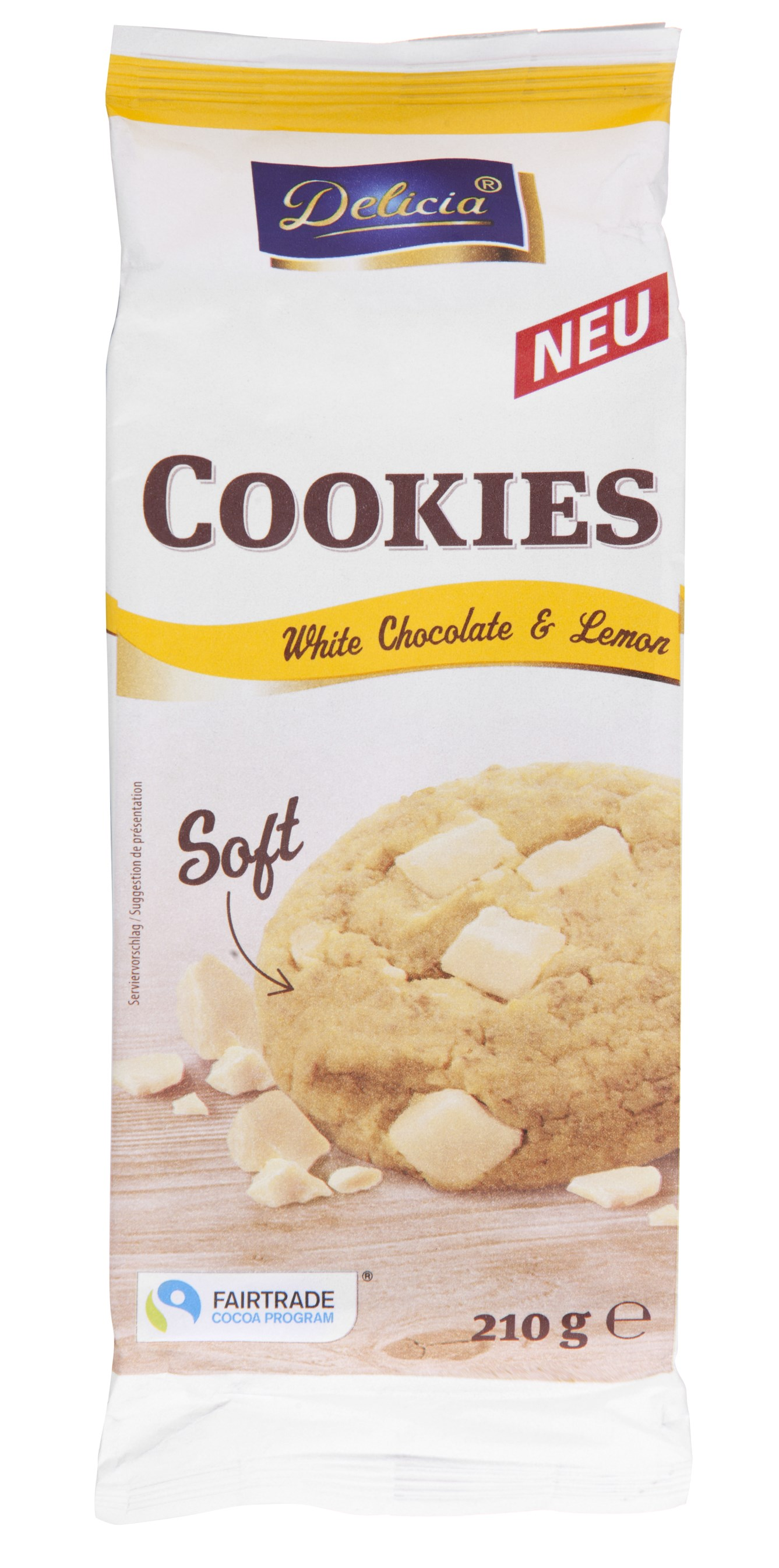 Delicia Cookies Soft White Chocolate & Lemon