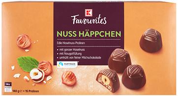 K-Favourites Nuss Häppchen 140g