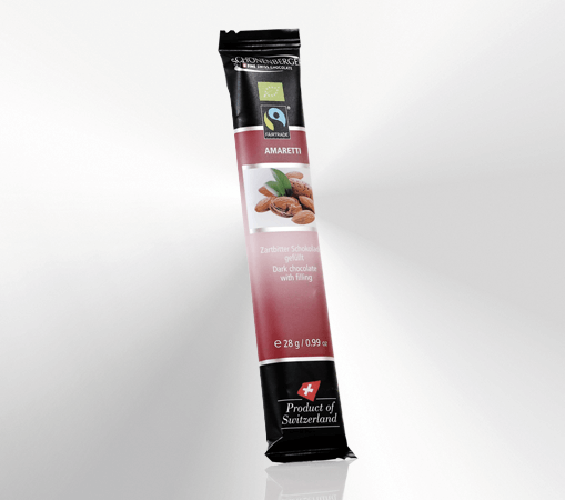 Schokoladenriegel Zartbitter, Amaretti