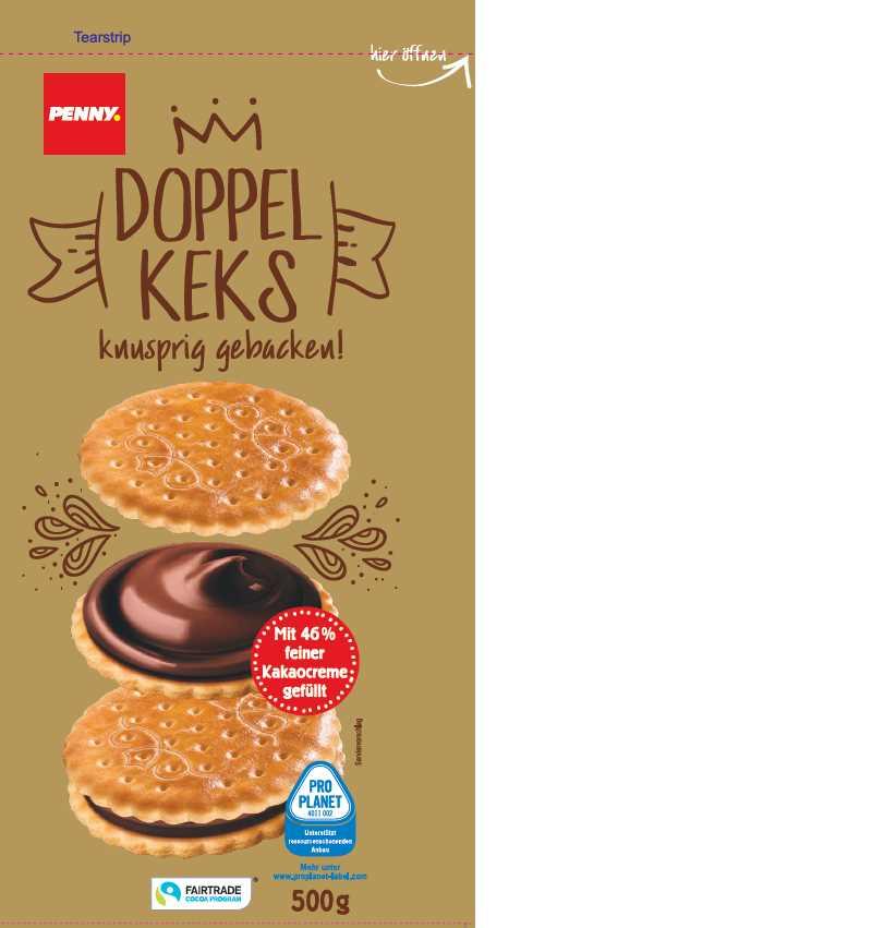 Penny DE Doppelkeks FT Kakao 20x500g 2E01