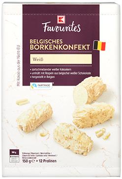 K-Favourites Borkenkonfekt Weiß 150g