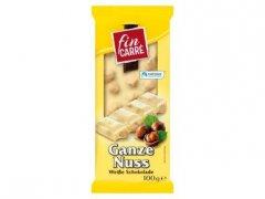 Fin Carré Weisse Schokolade Ganze Nuss