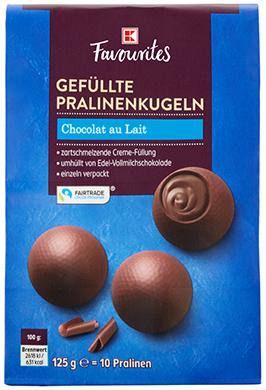 K-Favourites gefüllte Pralinenkugeln Chocolat au Lait 125g