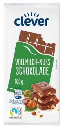 Vollmilch Nuss Schokolade