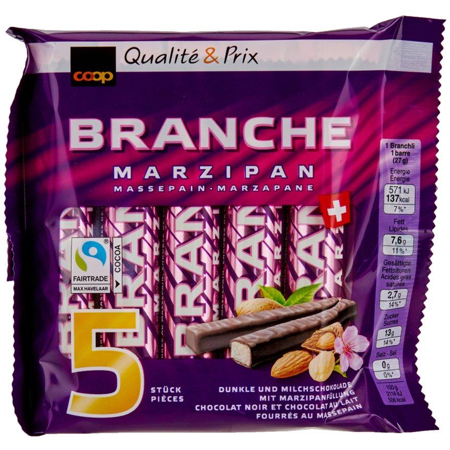 Schokoladen Branches mit Marzipanfüllung (5 Stück)