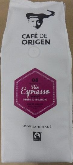 Cafe de Origen Espresso 8 FT Bio Bonen 6x500g