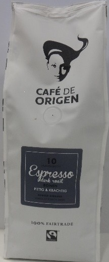 Cafe de Origen Espresso Dark Roast 10 FT Bonen 6x500g