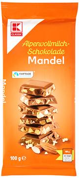 KLC Alpenvollmilchschokolade mit Mandeln 100g