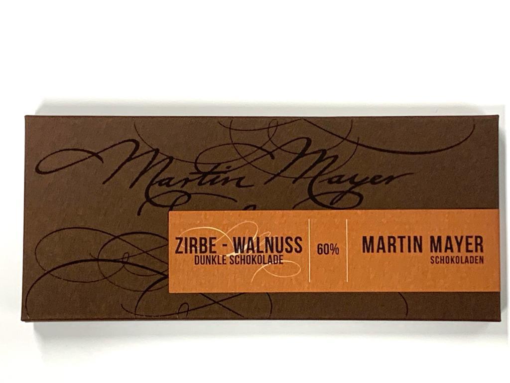 Tafelschokolade   Zirbe – Walnuss 60 Prozent