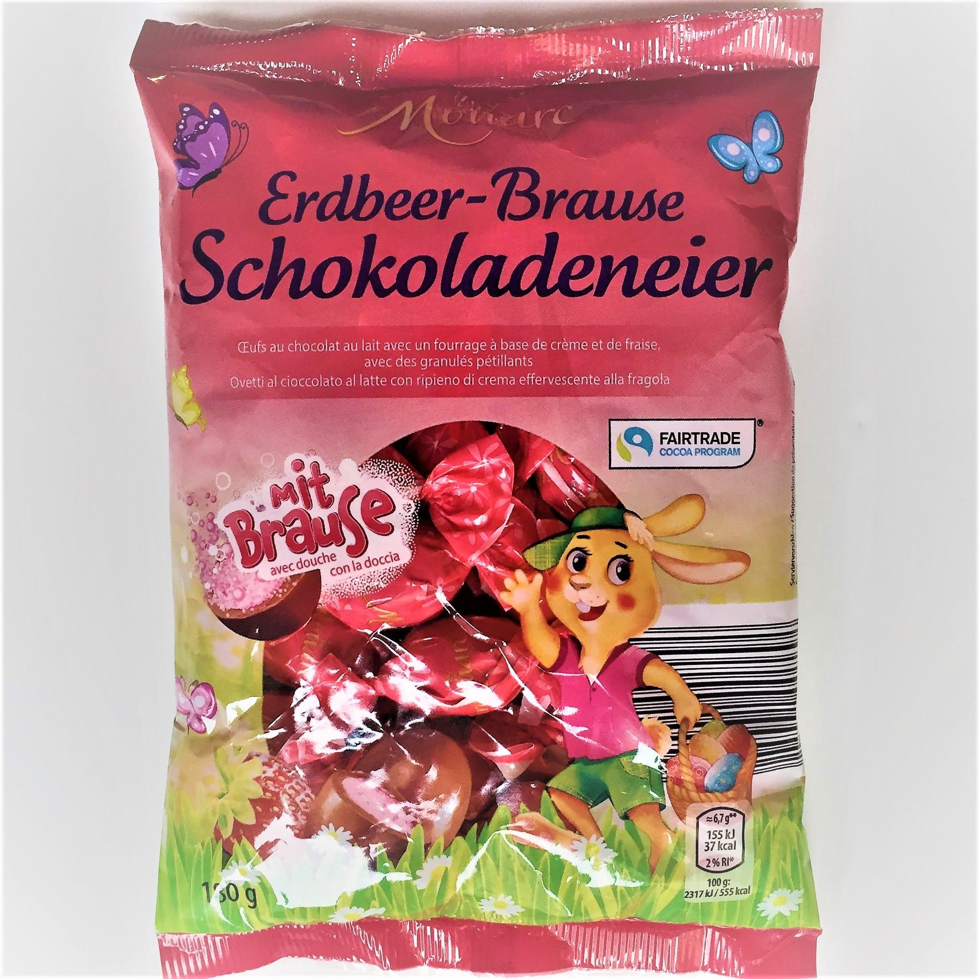 Ostereier Vollmilchschokolade, Erdbeer-Brause