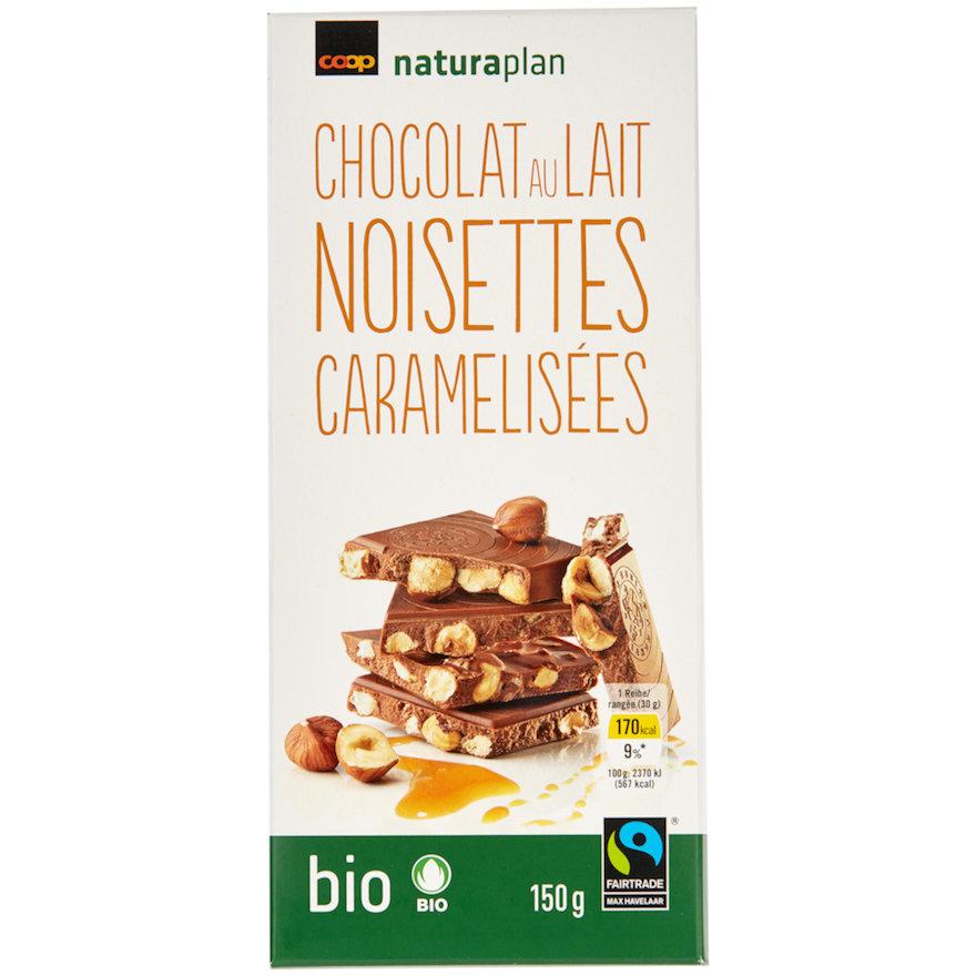 Tafelschokolade au lait noisettes caramelisées (2x150g)