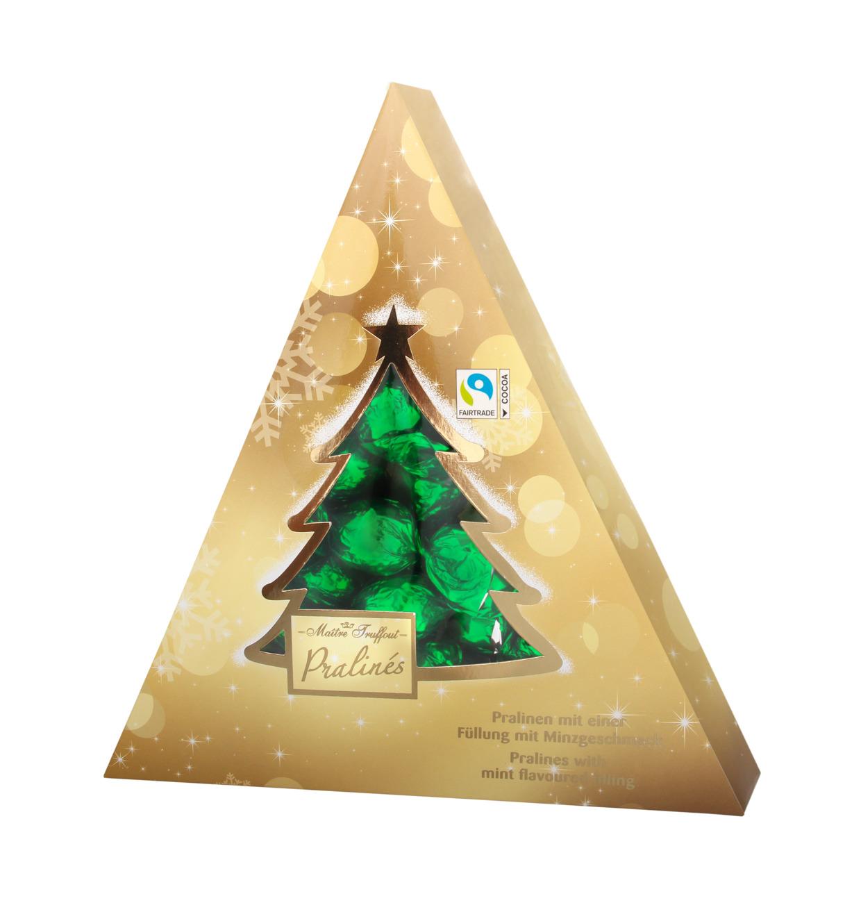 Weihnachtsbaum Pralinen mit Minzgeschmackfüllung
