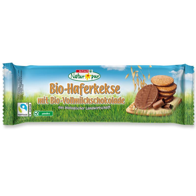 Haferkekse mit Bio-Vollmilchschokolade