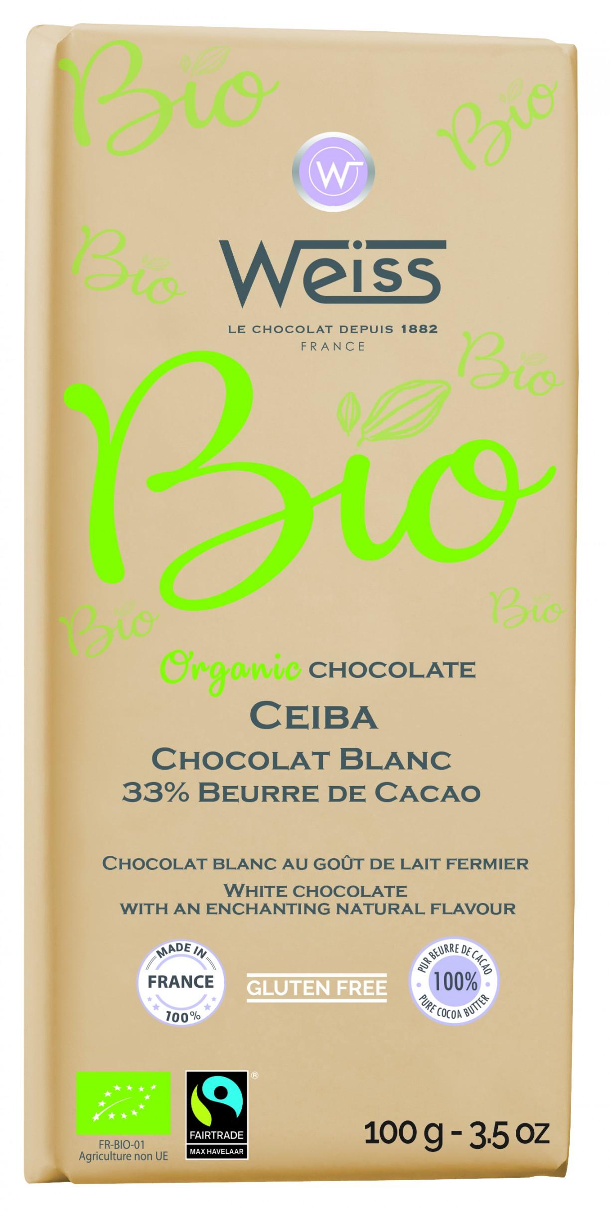 Ceiba blanc Tablette 100g