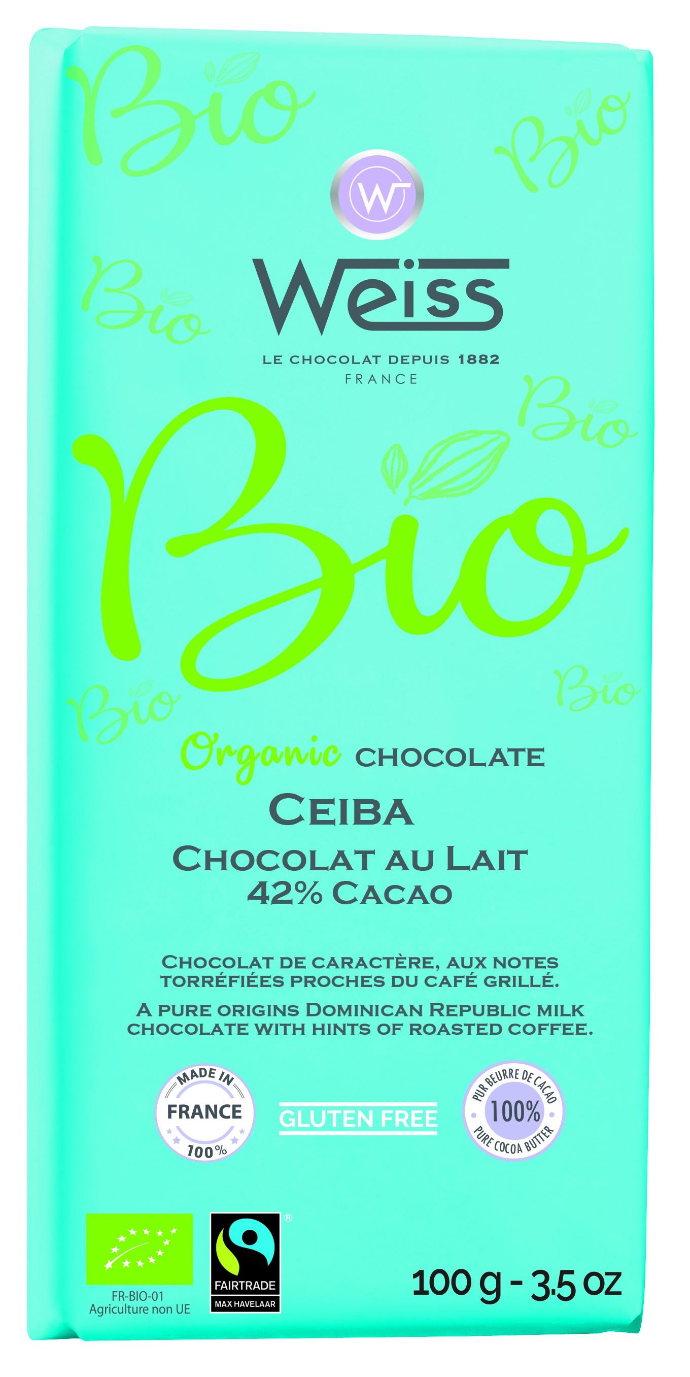 Ceiba lait Tablette 100g